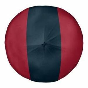 ArtVerse Houston Houston Football Stripes Floor Pillow - Square Tufted (30 x 30 - Round - Knife Edge - Large - Polyester - N/A - Floor)