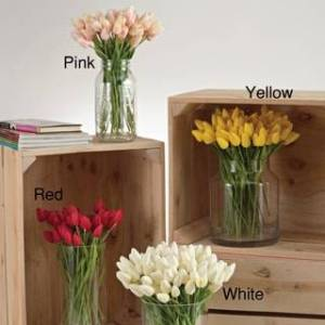 Saro Lifestyle Petite Tulip - set of 12 (Pink)