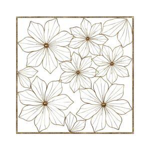 Stratton Home Dcor Stratton Home Decor Gold Flower Square Panel - 28.00 X 1.00 X 28.00 (Gold - 28.00 X 1.00 X 28.00)