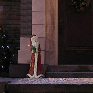 Alpine Corporation Tall Santa Christmas Statue (Red - Polyresin/Ceramic)