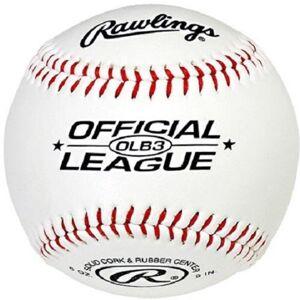 Easton Rawlings OLB3 Official League Recreational Play Baseball (White)