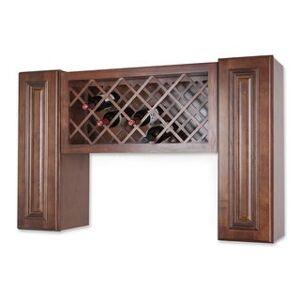 GHI Wall Mount Wine Rack Cabinet Unit (13 - Wood)