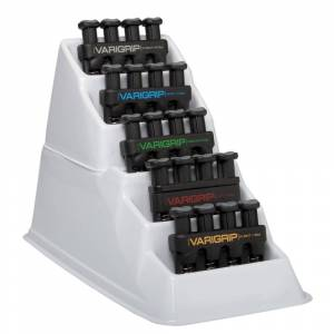 Cando VariGrip Hand Exerciser with Plastic Rack Set of 5
