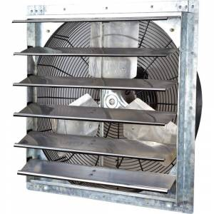 iLIVING USA iLIVING 24-inch Variable Speed Shutter Wall-Mounted Exhaust Fan (ILG8SF24V 24 Inch Variable Speed Shutter Fan)