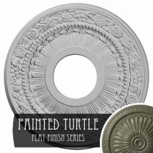 "Overstock 12 1/8""OD x 3 5/8""ID x 7/8""P Nadia Ceiling Medallion (Turtle)"
