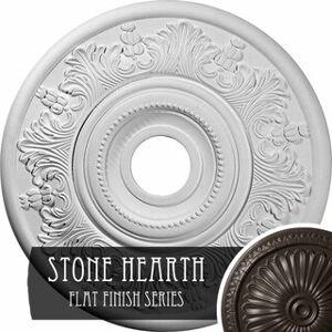 "Overstock 20""OD x 3 1/2""ID x 1 1/2""P Vienna Ceiling Medallion (Stone Hearth)"