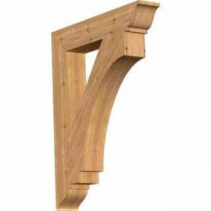 """Overstock Imperial Traditional Smooth Bracket, Western Red Cedar (5 1/2""""W x 34""""D x 42""""H)"""