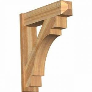 "Overstock Merced Rough Sawn Craftsman Outlooker, Western Red Cedar (8""W x 32""D x 36""H)"