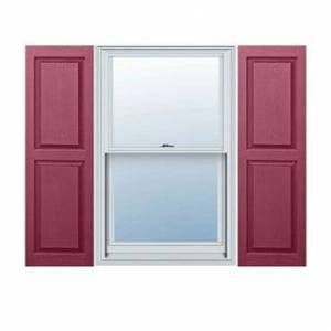 """Architectural Depot Builders Choice Vinyl Raised Panel Window Shutters (Pair) (12"""" x 51"""" - Berry Red)"""