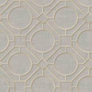 Overstock Seabrook Designs Koi Silk Road Trellis Unpasted Wallpaper (27 in. W x 27 ft. L - Metallic Gold and Gray)