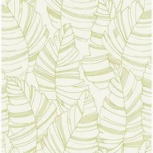 Seabrook Designs Daydreamers Jungle Leaves Unpasted Wallpaper (20.5 in. W x 33 ft. L - Green Apple)