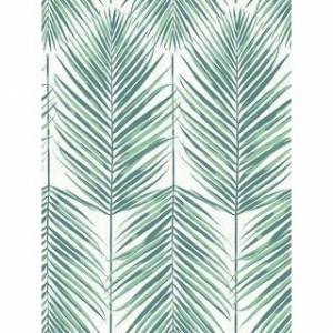 Seabrook Designs Beach House Paradise Palm Leaf Unpasted Wallpaper (27 in. W x 27 ft. L - Tropic Green)