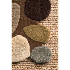 nuLOOM Stones and Pebbles Wool Handmade Area Rug (5' x 8' - Brown)