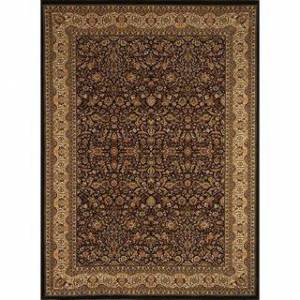 Home Dynamix Regency Collection Traditional Area Rug  (7'0X10'2) (7'10 x 10'2 - Beige/Black)