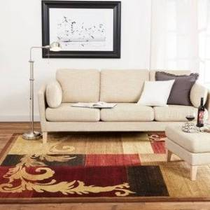 "Home Dynamix Catalina Pierre Contemporary Geometric Area Rug (Brown/Red 5'3""x7'2"")"