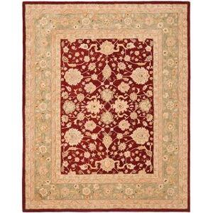 Safavieh Handmade Anatolia Angeline Traditional Oriental Hand-spun Wool Rug (8' x 10' - Red/Moss)