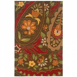 Rizzy Home Country Collection Hand-tufted New Zealand Wool Blend Accent Rug (8' x 10') - 8' x 10' (8' x 10' - brown)