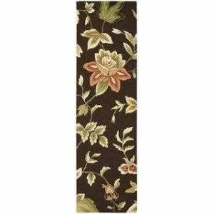"""Nourison Fantasy Traditional Floral Area Rug (2'3"""" x 8' Runner - Brown)"""