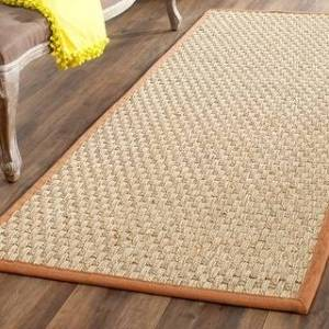 "Safavieh Natural Fiber Marina Casual Border Seagrass Rug (2'6"" x 16' Runner - Brown)"