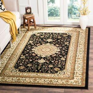 "Safavieh Lyndhurst Bimla Traditional Oriental Rug (5'3"" x 7'6"" - Black/Ivory)"
