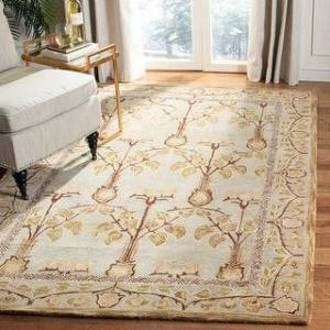 Safavieh Handmade Anatolia Elisabeth Traditional Oriental Wool Rug (3' x 5' - Ivory/Gold)