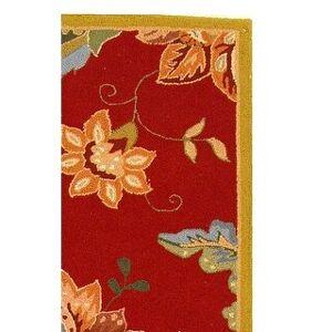 "Safavieh Hand-hooked Chelsea Joana Country Oriental Wool Rug (2'6"" x 10' Runner - Red)"