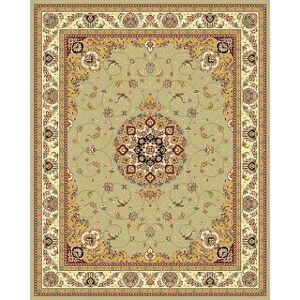 "Safavieh Lyndhurst Eeuwkje Traditional Oriental Rug (5'3"" x 7'6"" - Sage/Ivory)"