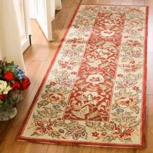 "Safavieh Hand-hooked Chelsea Kaila Country Oriental Wool Rug (2'6"" x 8' Runner - Red/Ivory)"