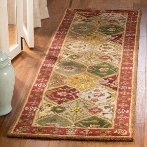 "Safavieh Handmade Heritage Shasta Traditional Oriental Wool Rug (2'3"" x 8' Runner - Multi)"