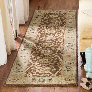 "Safavieh Handmade Antiquity Mazie Traditional Oriental Wool Rug (Brown/Green - 2'3"" x 12' Runner)"