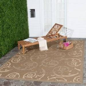 Safavieh Courtyard Marlys Indoor/ Outdoor Rug (8' x 11' - Brown/Natural)