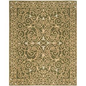 Safavieh Hand-hooked Chelsea Cherrelle Country Oriental Wool Rug (6' x 9' - Light Green)