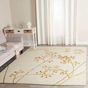 Safavieh Handmade Soho Rosolina Vine N.Z. Wool Rug (5' x 8' - Ivory/Orange)