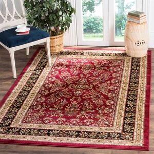 "Safavieh Lyndhurst Kuralay Traditional Oriental Rug (5'3"" x 7'6"" - Red/Black)"