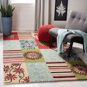"Safavieh Handmade Soho Ludovica Patchwork N.Z. Wool Rug (7'6"" x 9'6"" - Multi)"