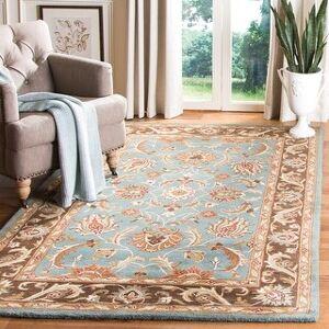 """Safavieh Handmade Heritage Loren Traditional Oriental Wool Rug (8'3"""" x 11' - Blue/Brown)"""