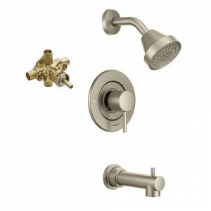 Moen Posi-Temp Eco-Performance Tub/Shower Faucet with Trim and 1/2-Inch CC Rough-in (Brushed Nickel)