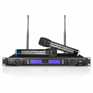 Technical Pro UHF Selectable Channel Dual Wireless Microphone (Black)