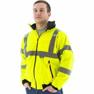Majestic 75-1301 High Visibility Waterproof Winter Bomber Jacket, Neon Green (4X-Large)