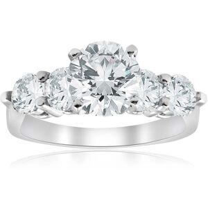 Pompeii3 14K White Gold 3 1/2 ct TDW Diamond Clarity Enhanced Engagement Ring (7.5)