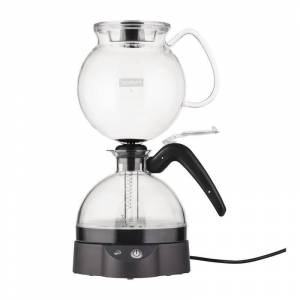 Bodum ePEBO Coffee Maker, Electric Vacuum Coffee Maker, Siphon Coffee Brewer, 34oz, Black