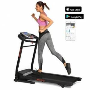 Ancheer New Folding Electric Support Motorized Power Running Fitness Jogging Treadmill (Black)