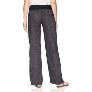 prAna Women's Mantra Pant, Black Herringbone,, Black Herringbone, Size Small