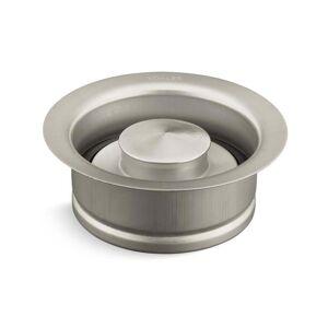 Kohler K-11352  Solid Durable Disposal Flange and Stopper for Standard Garbage Disposals (Brushed Nickel)