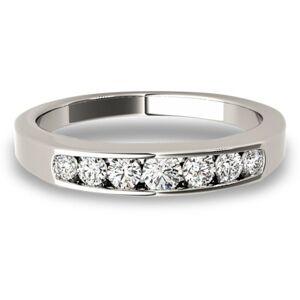 Lucid Styles 14K Gold 0.31 CT Round Cut Channel Set Diamond Wedding Ring (Rose - 10)
