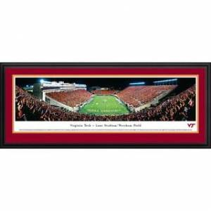 Blakeway Worldwide Panoramas Blakeway Panoramas Virginia Tech - Football Framed Print (Deluxe Frame With Double Mat)