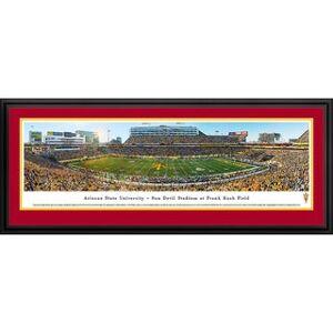 Blakeway Worldwide Panoramas Blakeway Panoramas Arizona St Football Framed Print (Deluxe Frame With Double Mat)