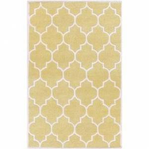 Surya Carpet Hand-tufted Juliet Moroccan Tile Wool Area Rug - 4' x 6' (Gold)