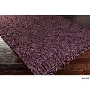 "Surya Carpet Hand-Woven Oregon Solid Jute Rug (2'3 x 10') (Purple - 2'3"" x 10')"