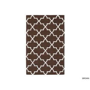 Surya Carpet Hand-Tufted Peta Moroccan Tiled Wool Rug (grey/teal - 4' x 6')